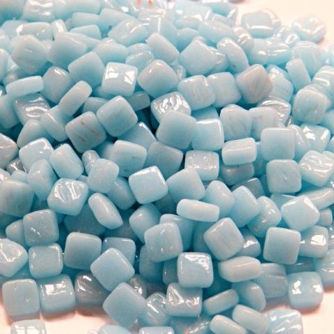 8mm Square Tiles - Light Blue Gloss - 50g